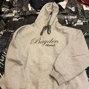 Grey hoodie free with purchase